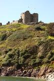 Castle on cliff Stock Photos