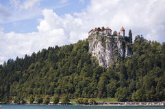 The castle at the cliff royalty free stock photography