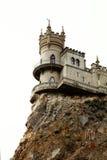 Castle on cliff Stock Photo