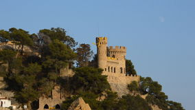 Castle on a Cliff During Sunset stock video footage