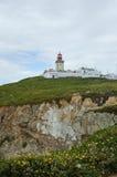 Castle on the Cliffs Edge Cabo da Roca, Portugal Royalty Free Stock Photos