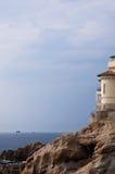 Castle on cliffs livorno Stock Photos