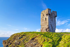 Castle at Cliffs of Moher Stock Images