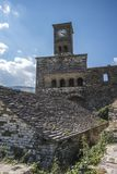 The Castle clock tower, Gjirokaster Stock Photography