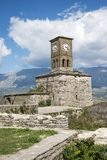 The Castle clock tower, Gjirokaster Royalty Free Stock Images