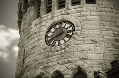 Castle Clock Tower. Irish Guild Castle Clocktower in Port Washington, Long Island Stock Images