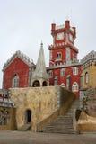 Castle clocktower. Clocktower in Pena castle, Sintra, Portugal Stock Image