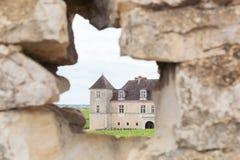 Castle of Clos de Vougeot in Burgundy Stock Photography