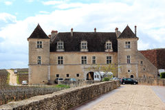 The Castle of Clos de Vougeot in Burgundy Royalty Free Stock Photos