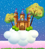 A castle on a cloud vector illustration