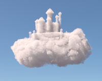 Castle in the clouds Royalty Free Stock Photos