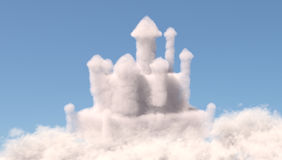 Castle in the clouds Stock Photography
