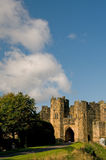 Castle and clouds royalty free stock photos