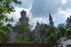 Castle in the clouds. A beautiful picture I took of the Neuschwanstein castle on our trip to Germany Stock Photography