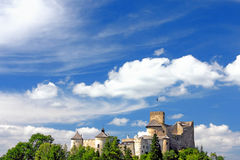 Castle on cloudy sky Royalty Free Stock Photography