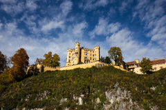 Castle with Cloudy Sky, Schloss Hohenschwangau - Fussen, Germany Stock Image