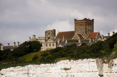 Castle at coast Stock Photo