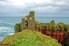 Castle ON Coast Cliffs royalty free stock photography