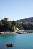Castle of coast of Lerici Royalty Free Stock Photography