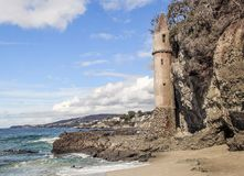 Castle on the coast Royalty Free Stock Image