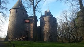 Castle coch στα tongwynlais, Ουαλία Στοκ εικόνες με δικαίωμα ελεύθερης χρήσης