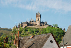 Castle at Cochem in Germany. Cochem castle from Cochem-Cond Royalty Free Stock Photos