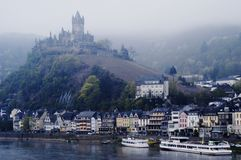 Castle at Cochem on Mosel River, Germany Stock Photography