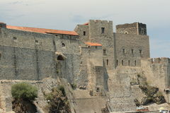Castle of Collioure in France Stock Photos