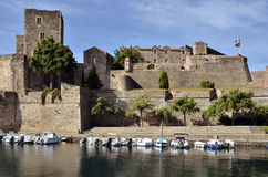 Castle of Collioure in France Royalty Free Stock Photo