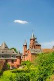Castle in Collonges la rouge Stock Photo