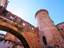 Castle in Colonia Guell Royalty Free Stock Photo