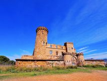 Castle in Colonia Guell Royalty Free Stock Image