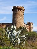 Castle in Colonia Guell Stock Image