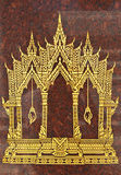 Castle color gold painting Stock Image