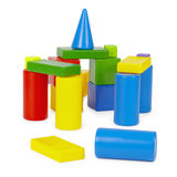 Castle of color toy bricks Stock Images