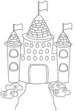 Castle coloring page. Useful as coloring book for kids Stock Image
