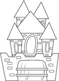 Castle coloring page Royalty Free Stock Photo
