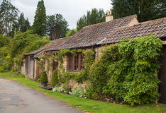 Castle Combe old house. Unique English village Royalty Free Stock Photo