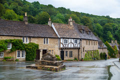 Castle Combe street. Unique old English village Stock Photography