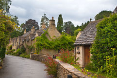 Castle Combe street. Unique old English village Stock Photos