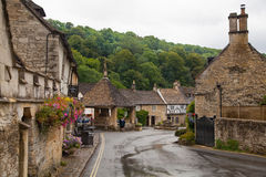 Castle Combe street. Unique old English village Royalty Free Stock Images