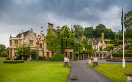 Castle Combe, unique old English village. CHIPPENHAM, UK - AUGUST 9, 2014: Castle Combe, unique old English village Stock Photography