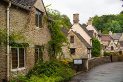 Castle Combe, unique old English village. Old house and park Stock Image