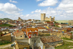 Castle Communards Torrelobaton in Valladolid, Spain Stock Image