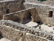 Castle compound. In the Kolossi castle compound in Cyprus Royalty Free Stock Image