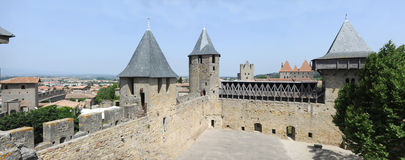 The castle of Comtal on the citadel of Carcassonne Royalty Free Stock Photos