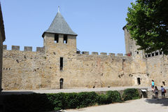 The castle of Comtal on the citadel of Carcassonne Stock Image