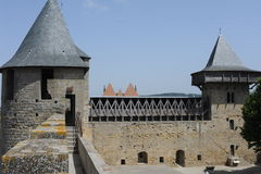 The castle of Comtal on the citadel of Carcassonne Royalty Free Stock Images