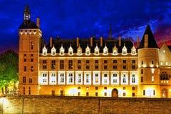 Castle Conciergerie. And bridge, Paris, France royalty free stock images