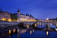 Castle Conciergerie. Former royal palace and prison. Conciergerie located on the west of the Cite Island and today it is part of larger complex known as stock images